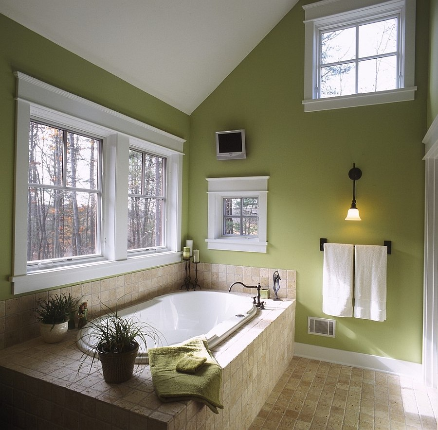 Elegant-use-of-green-inside-the-traditional-bathroom