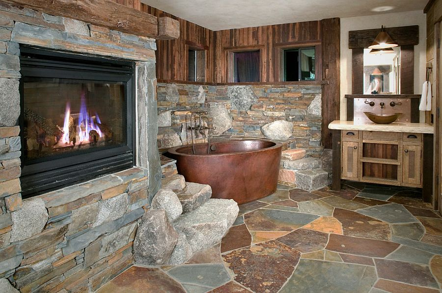 Copper-bathtub-and-Flagstone-Slate-create-a-fabulous-rustic-bathroom