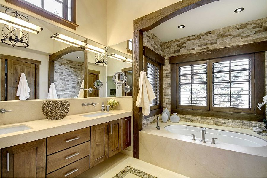 Custom-bathtub-niche-in-stone-with-a-lovely-wooden-frame